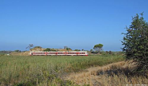 ose (ferrovie greche )  - complesso serie 6501 tra le dune di kleidi