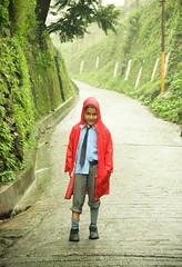 (elena.noll) Tags: summer india kid child raincoat 2009 mussoorie schoolboy