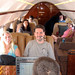 20100807 1254 - Cape Cod - on plane - Frank's head, Carolyn, Clint, Samantha, Maria, Timmy, Lowell, Denise, IMG_2179