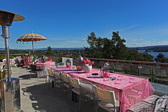top floor (Leifskandsen) Tags: sea party sky india water sunshine oslo top bluesky tables penthouse fjord
