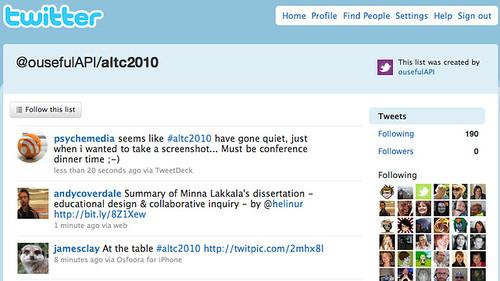 ALTC2010 hashtaggers list