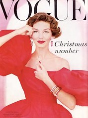 Vogue UK-December 1956 (Fashion Covers Magazines) Tags: vogue 1956 vintagefashion vintagemagazine 1950s mainbocher 1950sfashion