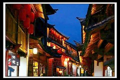Lijiang Old Town  (hk_traveller) Tags: world 2003 china trip travel blue winter vacation color heritage night canon 50mm photo interestingness interesting asia flickr 300d canon300d unesco traveller explore turbo  top100 yunnan 90 lijiang     douban top500 interestingness90 i500 turbophoto colorphotoaward