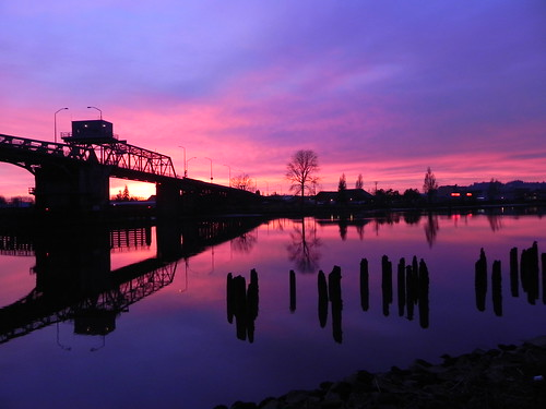Sunset on the Hoquiam River #2
