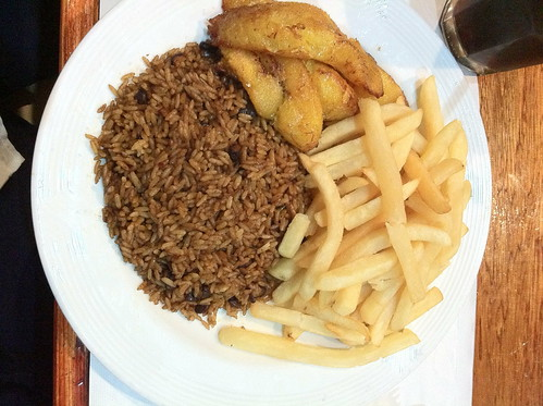 Plantains, Fries and Rice