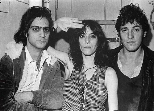 patti smith, bruce springsteen, and lenny kaye