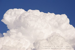 Clouds II (SamiPhotography) Tags: blue sky white clouds nikon nuvole cielo bianco aforisma