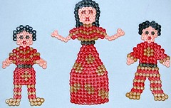 Chinese Outfits in Hama Beads
