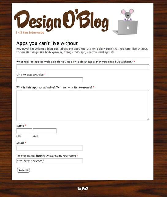 Design O'Blog