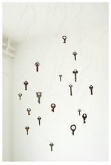 (despite our differences) Tags: stilllife art keys wire key open antique hanging choice choose nikond200