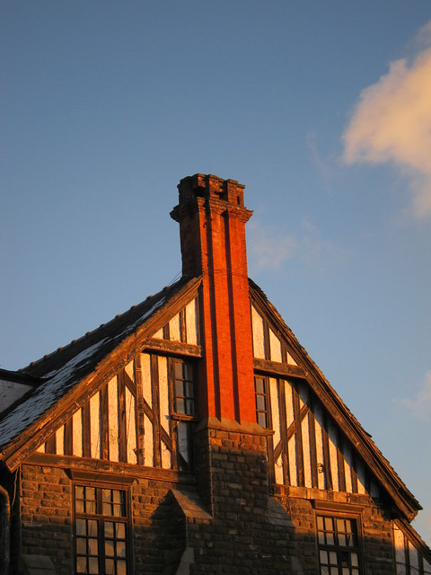 Sun-kissed chimney