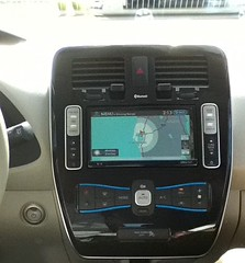 Nissan Leaf Dashboard - how far can you go on a charge?