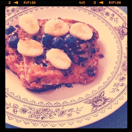 Made pecan crusted French toast for my roommates. Happy Valentine's Day girls!