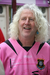 Mick Wallace, wearing pink