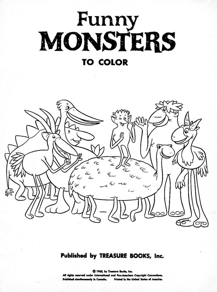 Funny Monsters Coloring Book (Treasure Books, 1965) 1