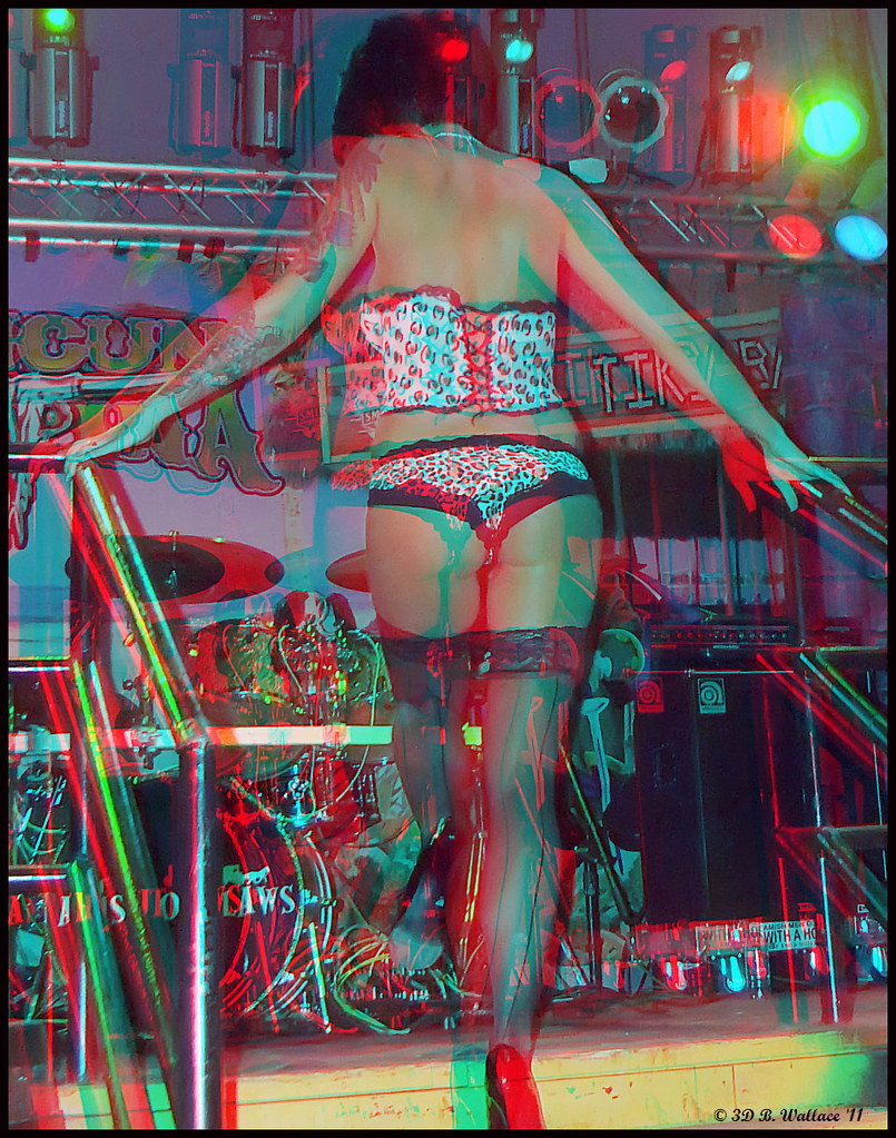3d striptease girl anaglyph glasses - 4 8