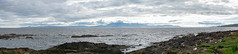 Portencross panoramic (Rourkeor) Tags: portencross scotland unitedkingdom gb arran ayrshire sea water island clouds shadows coast coastline rocks sony sonyrx1r rx1r fullframe carlzeiss zeiss sonnar t 35mm