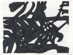 2016.03.21 The Long View (Julia L. Kay) Tags: shadow shadows silhouette juliakay julialkay julia kay artist artista artiste künstler art kunst peinture dessin arte woman female sanfrancisco san francisco daily everyday 365 botanical botany plant foliage splitleaf philodendron splitleafphilodendron sundances ink brushpen paper black white blackandwhite monochrome