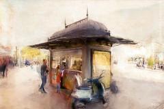 At The Kiosk - Malaga (sbox) Tags: malaga spain painterly kiosk painting digitalpainting declanod sbox