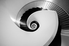 Burtonesque (The Green Album) Tags: spiral staircase granhoteldomine hotel steps railings winding interior monochrome down modern contemporary architecture