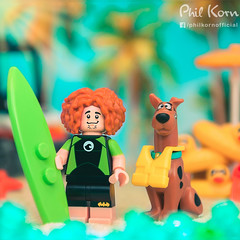 """It happens to my hair every time I take a dip in the ocean. Zoinks!"" (Phil Korn) Tags: lego lego365 scoobydoo legoscoobydoo shaggy scooby beach sand vacation rubber duckie pool float legoart toys toys4life legography legophotography toyphotograpy stuckinplastic afol square light lightroom 60153 summer surfboard surfer summertime lifejacket legophoto legos colors minifigues minifig photographer ocean lol"
