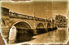 GASSY SPOTTED IN 1925 PHOTO OF RICHMOND BRIDGE (mendhak) Tags: old bridge wallpaper news london texture thames sepia vintage river funny gimp richmond surrey photograph article spoof aged damaged ubuntu clipping clever gassy antiqued hardyc mendhakwallpaper mendhakwebsite