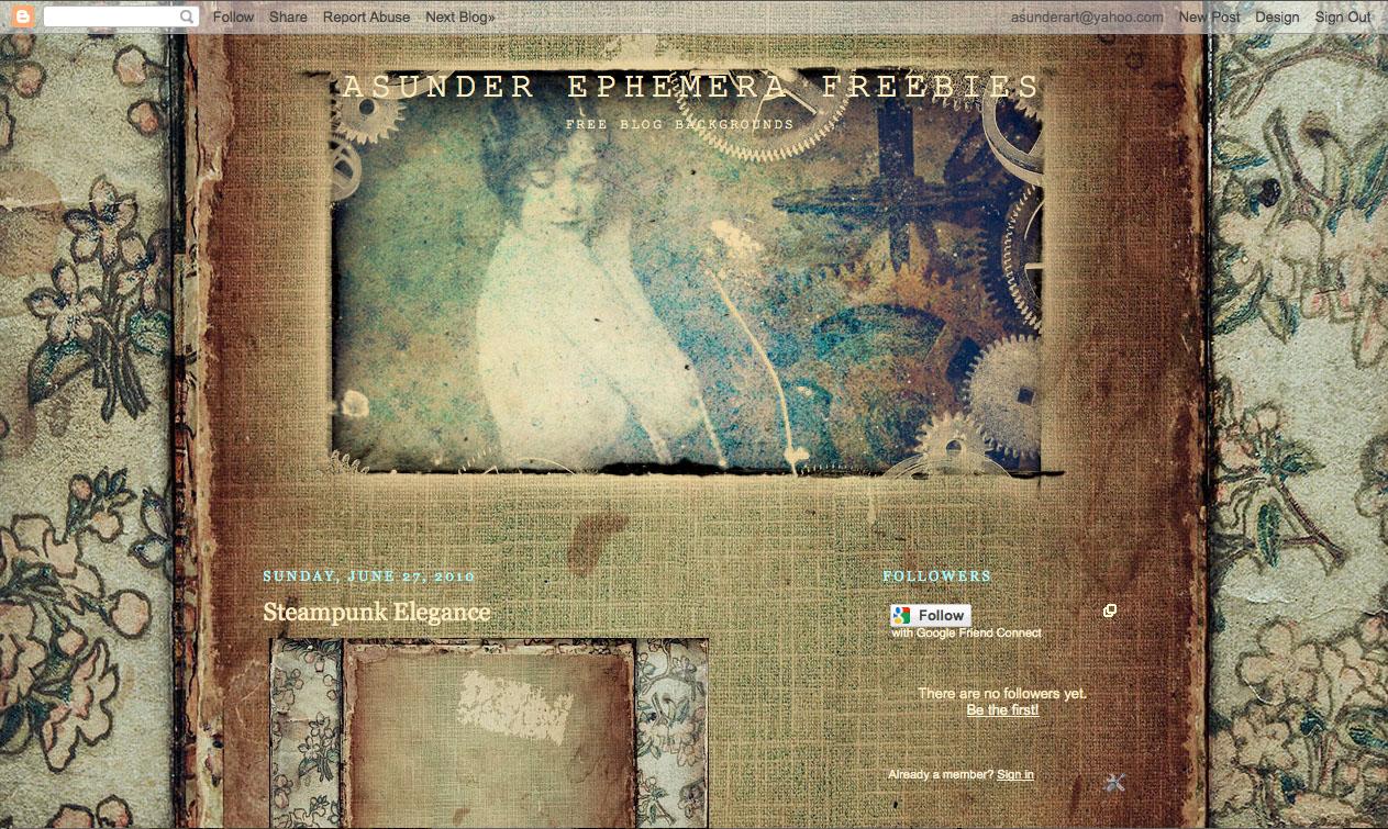 asunder ephemera freebies june 2010