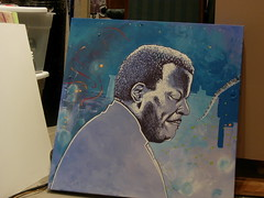oscar peterson for haiti (andres musta) Tags: painting oscar mixed media acrylic canvas andres peterson musta