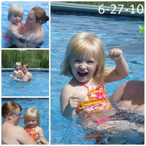 Bree pool 6-27-10