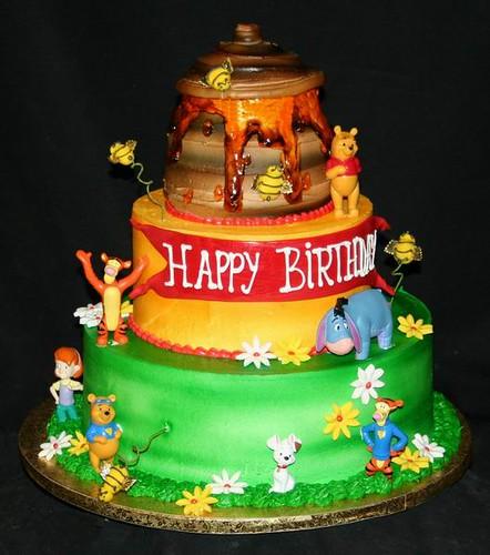3-Tier Winnie the Pooh Birthday Cake