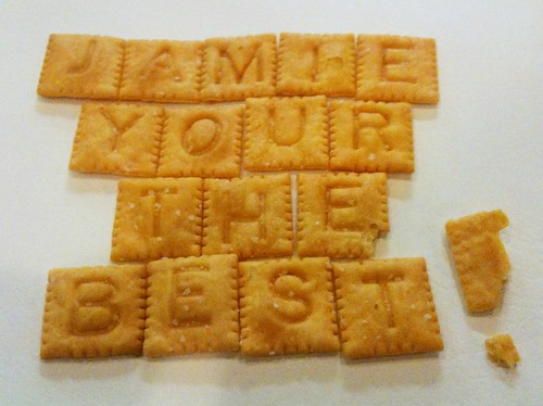 Scrabble Cheez-It Encouragement