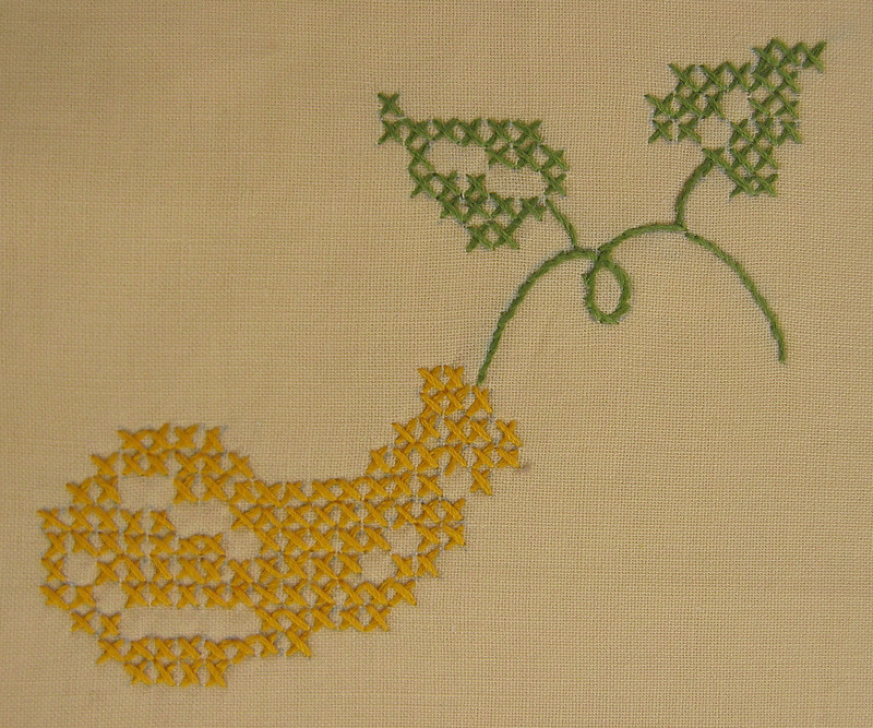 yellow squash embroidery