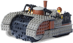 Steam Minesweeper Mk. LIII (front) (aillery) Tags: war mine lego military great steam vehicle machines minesweeper steampunk sweeper