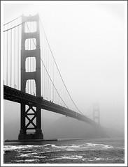 City of Fog (Brenda Harker) Tags: sanfrancisco california blackandwhite fog canon landscape goldengatebridge