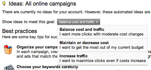 AdWords Goals