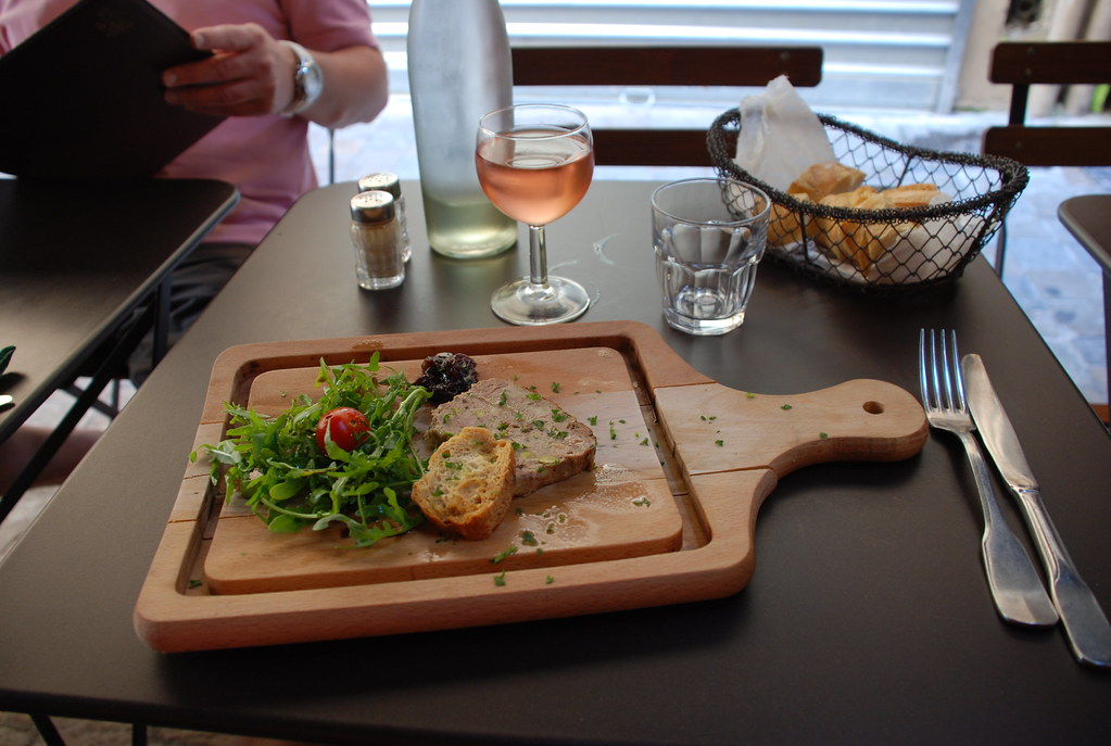 terrine and rose at Aux Bons Enfants in Cannes