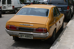 Datsun 160J Violet (Lazenby43) Tags: japanese greece corfu datsun orangecar abandonedcars 1970scar
