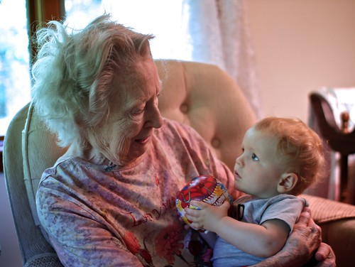 Will visited his great grandma for her birthday