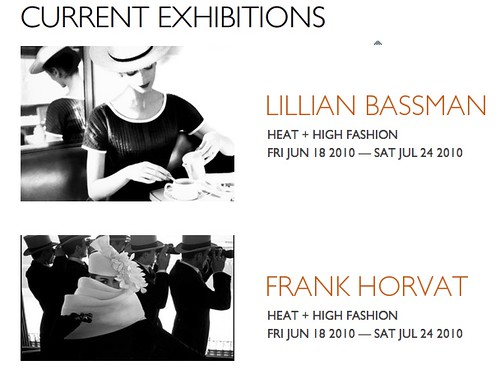 Bassman, Klein & Horvat = Heat + High Fashion @ Jackson Fine Art