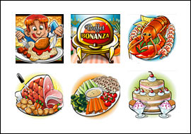 free Buffet Bonanza slot game symbols