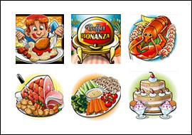 free Buffet Bonanza slot game symbols