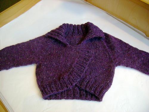 Juli's KP&S Children's Bolero - Rowan Felted Tweed