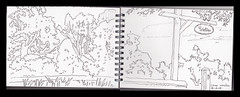 sketchbook 2010 The Sign Camp Walden (Martin Beek) Tags: travel usa art america idea sketch drawing michigan sketchbook line study americana summercamp linear cheboygan 49721 campwalden thegreatmidwest americantraveldrawings linddrawings