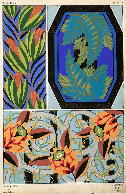 013-Bouquets et frondaisons. 60 motifs en couleur- Eugene Alain Seguy