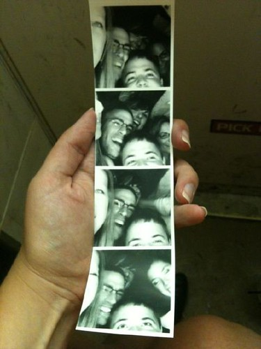 How many people can you fit in one photo booth? Amazing.