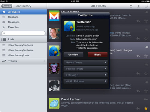 twitteriffic for iPad