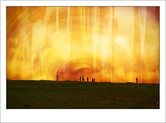 The evening on the hill (-clicking-) Tags: lighting light red people texture nature yellow photoshop landscape evening amazing graphic natural details hill tiny thegalaxy 100commentgroup creattivit mygearandmepremium mygearandmebronze