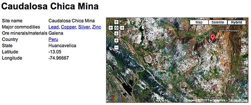La mina Caudalosa Chica