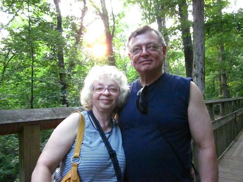 Mom and dad at Bear Hollow.