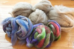Tour de Fleece wheel fibers